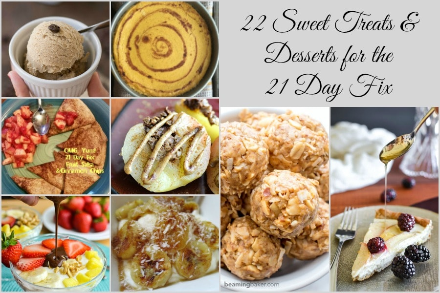 22 Sweet Treats and Desserts for the 21 Day Fix