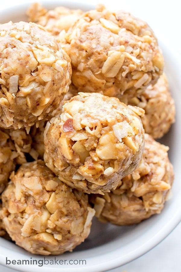 No Bake Peanut Butter Coconut Bites