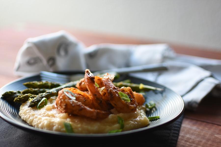 Skinny Cajun Shrimp & Grits