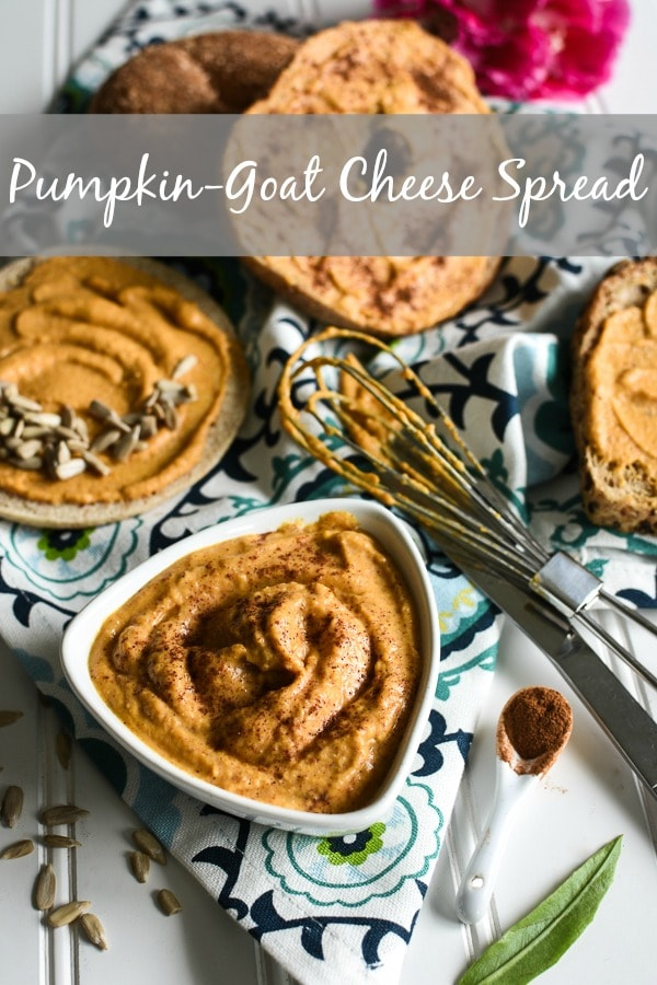 This delicious 21 Day Fix Pumpkin Goat Cheese Spread is the quick and easy way to get your pumpkin fix! A great, healthy accessory for the 2B mindset, too! #21dayfix #2BMindset #pumpkin #fall #healthy #quick #easy #healthysnack #breakfast #healthybreakfast