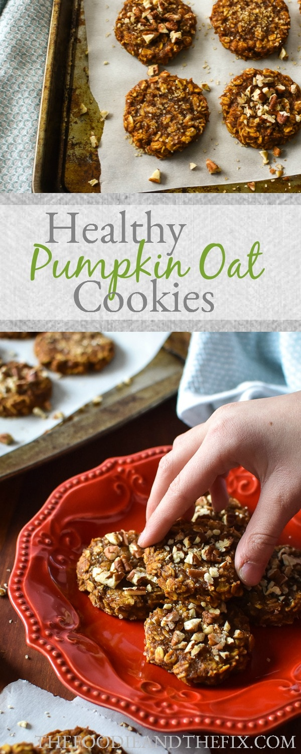 21 Day Fix Pumpkin Oat Cookies are super easy and quick to mix up! They're also great in a lunchbox and the perfect healthy, fall treat! #fall #healthy #healthycookies #pumpkin #21dayfix #breakfast #2bmindset #dessert #healthydessert #kidfriendly