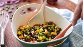 Edamame-Black Bean Salad with Red Wine Vinaigrette