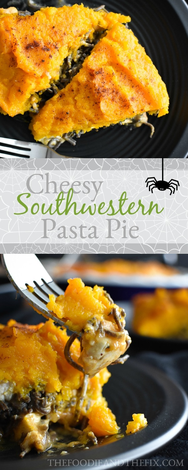 21 Day Fix Cheesy Southwestern Chicken Pasta Pie