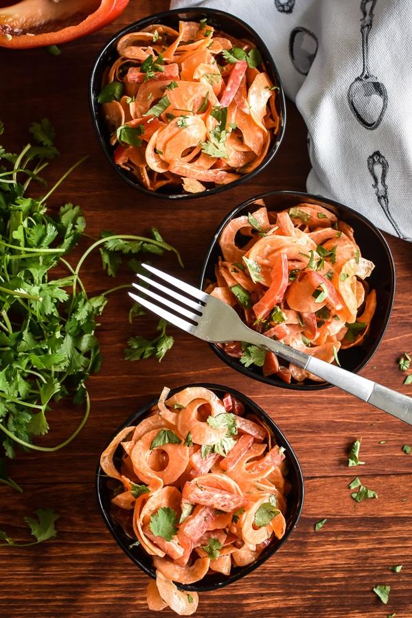 21 Day Fix Carrot-Coconut Ribbon Salad