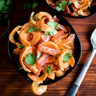 Carrot-Coconut Ribbon Salad {21 Day Fix}