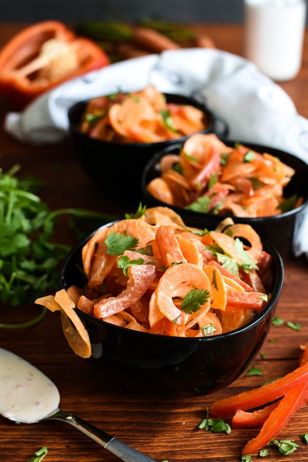 21 Day Fix Carrot-Coconut Ribbon Salad