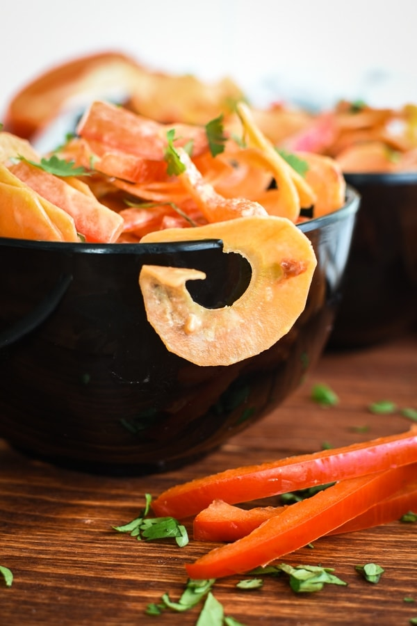 Carrot-Coconut Ribbon Salad