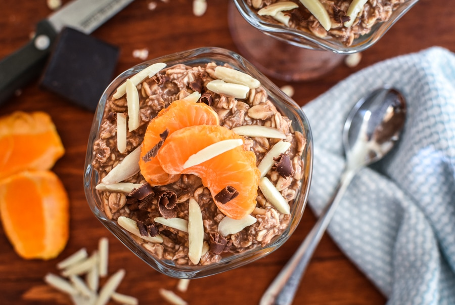 21 Day Fix Clementine and Cocoa Overnight Oats
