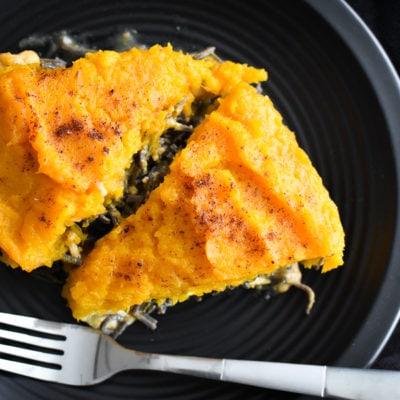 Cheesy Southwestern Chicken Pasta Pie {Plus a Halloween Playlist!}
