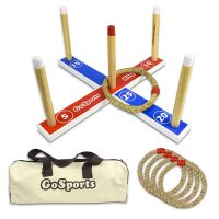 Go Sports Premium Wooden Ring Toss Game