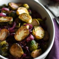 21 Day Fix Red Wine Vinegar & Maple Caramelized Brussels Sprouts & Onions
