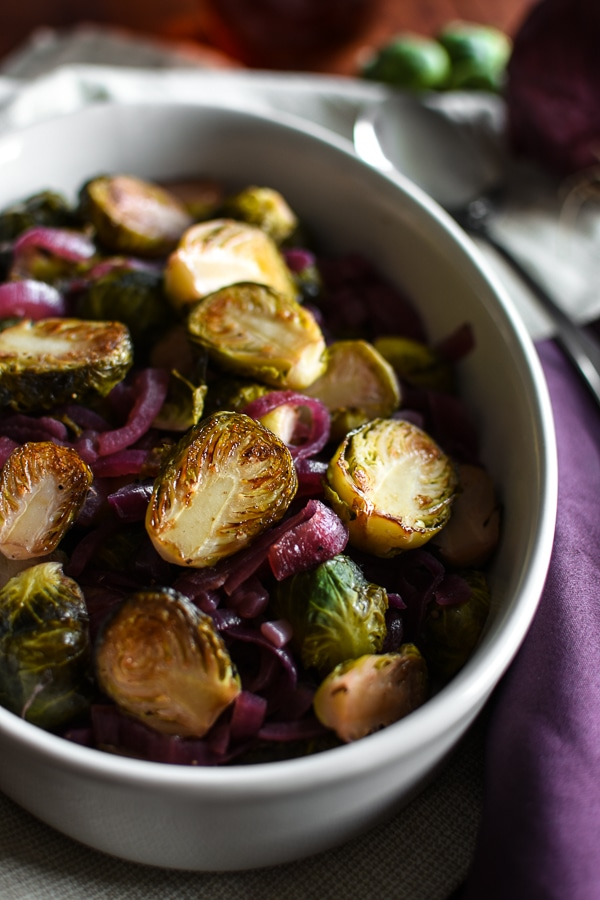 Red Wine Vinegar & Maple Caramelized Brussels Sprouts and ...