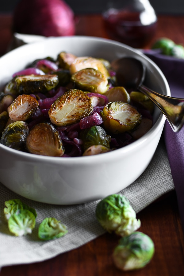 21 Day Fix Red Wine Vinegar Onions and Caramelized Brussels Sprouts