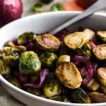 Red Wine Vinegar & Maple Caramelized Brussels Sprouts and Onions