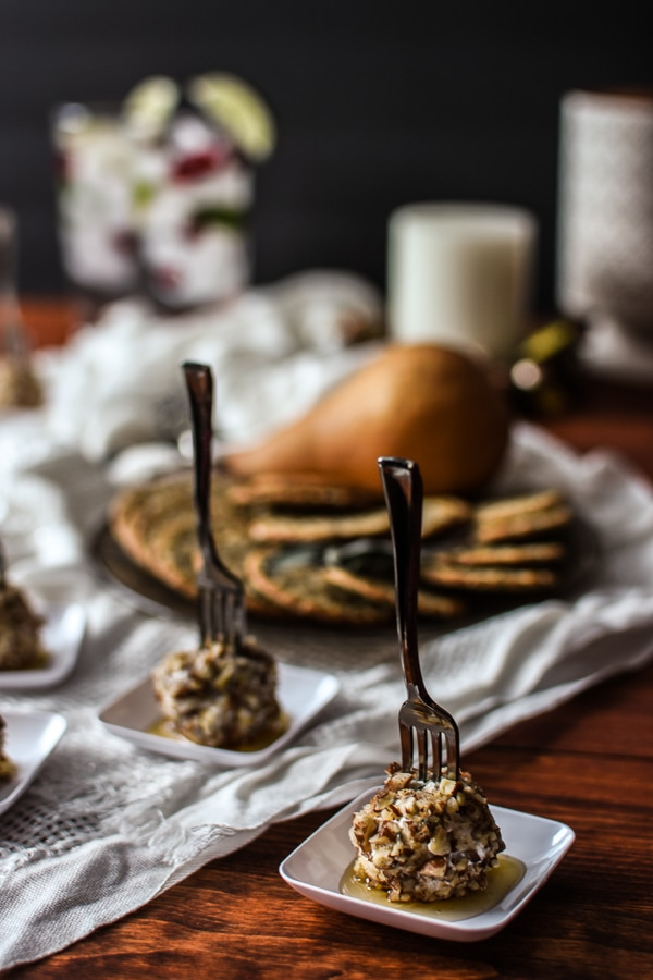 21 Day Fix Mini Pear, Pecan and Goat Cheese Appetizers
