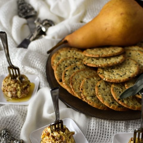 Mini Pear, Pecan and Goat Cheese Appetizers
