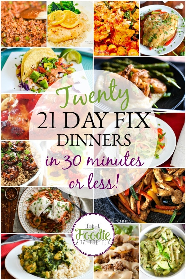 21 Day Fix Quick Dinners