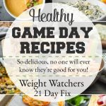 Healthy Game Day Recipes {21 Day Fix | Weight Watchers}