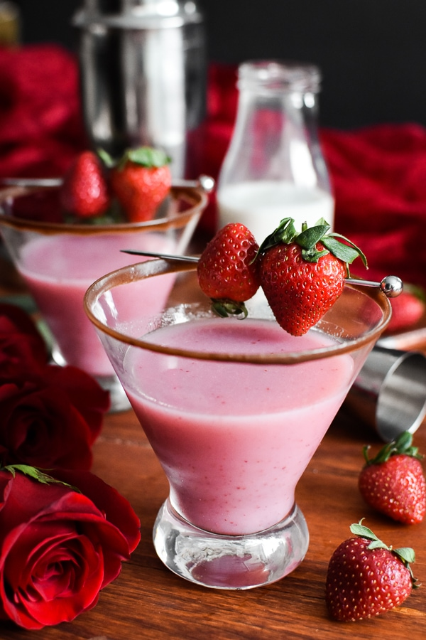 21 Day Fix Strawberry Shortcake Martini