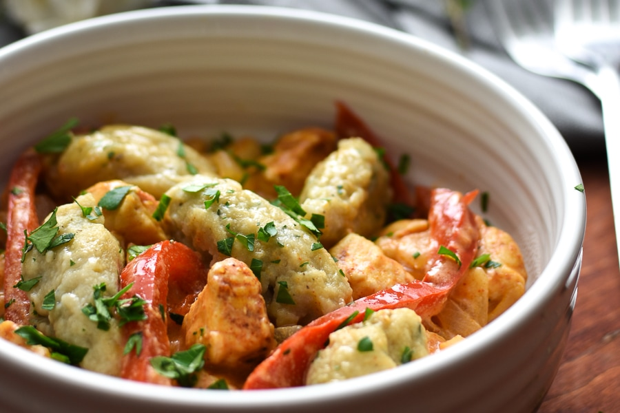 21 Day Fix Chicken Paprikash with Black Pepper and Herb Dumplings