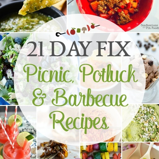 21 Day Fix Picnic Potluck And Barbecue Recipes The Foodie And The Fix