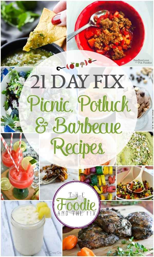 21 Day Fix Picnic, Potluck & Barbecue Recipes - The BEST healthy, 21 Day Fix recipes for all your summertime parties! Includes drinks and desserts! #21dayfix #mealprep #weightloss #portionfix #ultimateportionfix #beachbody #healthy #healthysummer #summer #picnic #potluck #barbecue #bbq #healthypicnic #healthypotluck #healthybarbecue