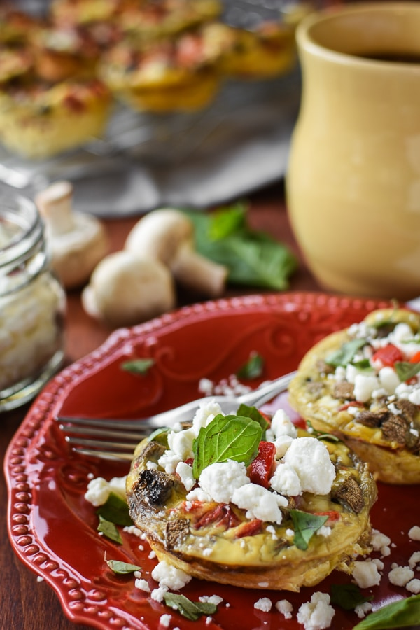21 Day Fix Mediterranean Egg Cups with Goat Cheese