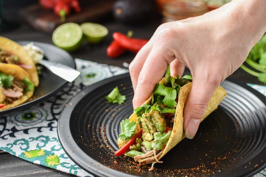 21 Day Fix Pulled Pork Tacos with Quick-Pickled Veggies