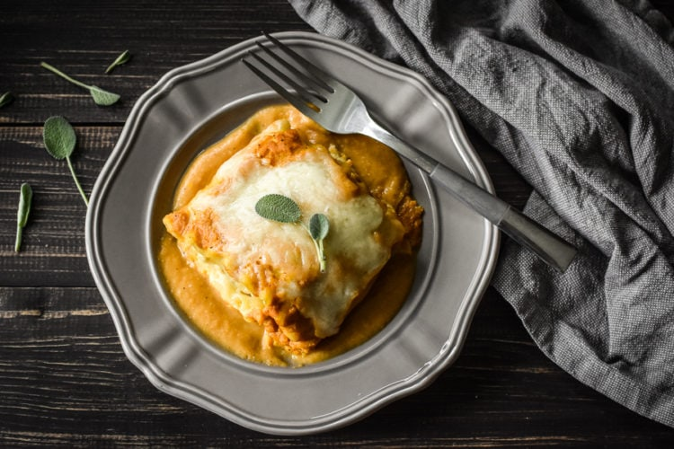 Pumpkin and Sausage Lasagna Rolls {21 Day Fix}