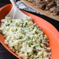 Garlic and Cilantro Cauliflower Rice