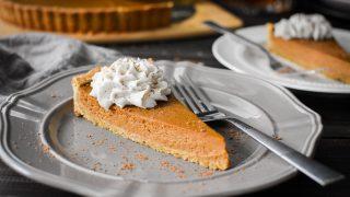 Pumpkin Custard Tart With Bourbon-Nutmeg Coconut Whip {21 Day Fix}