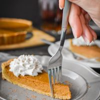 Pumpkin Custard Tart With Bourbon-Nutmeg Coconut Whip {21 Day Fix}