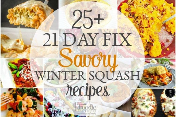 25+ Delicious 21 Day Fix Savory Winter Squash Recipes