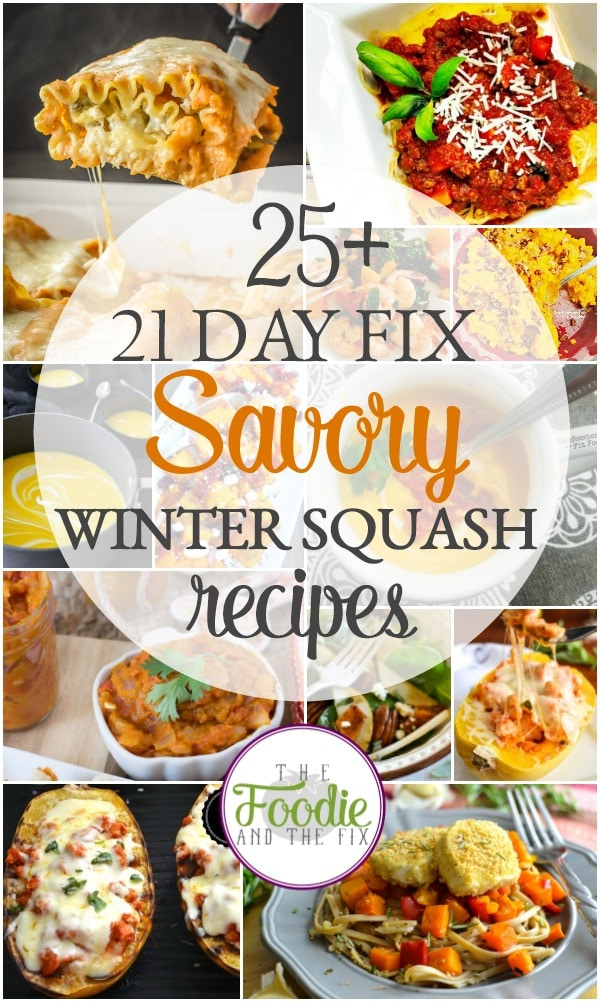 'Tis the season for 21 Day Fix savory winter squash recipes! Between the butternut, acorn, pumpkin and spaghetti squash recipes, I hope you find new family favorites for the fall and winter!