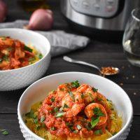 Instant Pot Shrimp and Spaghetti Squash Fra Diavolo {21 Day Fix}