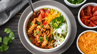 Healthy Instant Pot Cheesy Taco Pasta