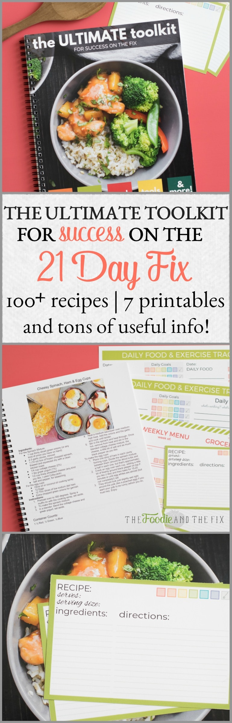 I'm bringing you The Ultimate Toolkit for success on the 21 Day Fix! It has tons of recipes, printables, meal planning tips, how to read a nutrition label, food lists, frequently asked questions and SO MUCH MORE!#21dayfix #mealplanning #healthy #healthyrecipes #healthycookbook #beachbody