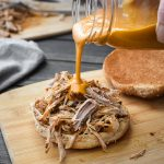 Healthy Pulled Pork with Mustard BBQ Sauce {Instant Pot | Slow Cooker}
