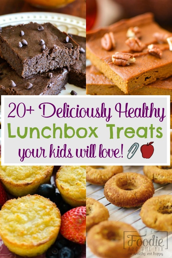 You can feel good about what your kids are eating at school when you send in one of these 20+ Deliciously Healthy Lunchbox Treats! #kidfriendly #21dayfix #healthy #healthysnack #lunchbox #school #schoollunch #lunch #healthylunch #healthytreat #parenting