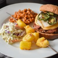 Jalapeno, Bacon and Beer Cheese Turkey Burgers {21 Day Fix}