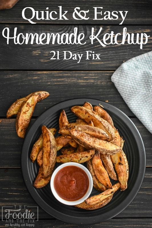 This healthy 21 Day Fix Easy Homemade Ketchup is super quick to throw together because it uses all pantry ingredients. Kid-friendly and great on a burger! #21dayfix #2bmindset #mealprep #kidfriendly #glutenfree #dairyfree #quick #easy #burger #grilling #healthy #beachbody