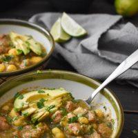 Healthy Pozole Verde {Instant Pot | Slow Cooker}