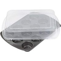 Wilton Premium Nonstick Covered Muffin Pan