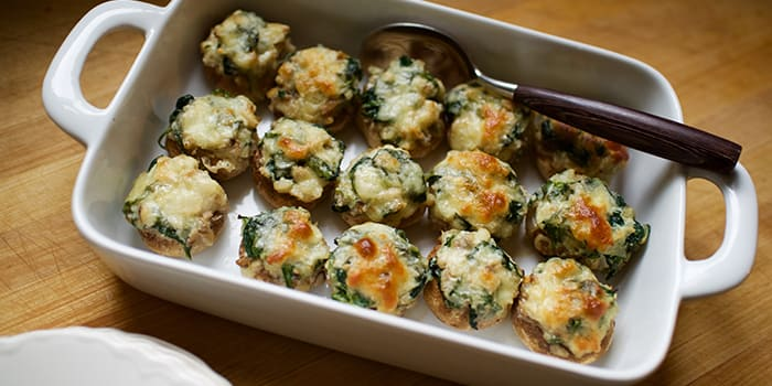 Spinach and Cheese Stuffed Mushrooms Recipe