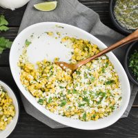 Cheesy Salsa Verde Corn