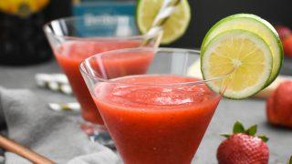 Frozen Strawberry Margarita Recipe {21 Day Fix | Weight Watchers}