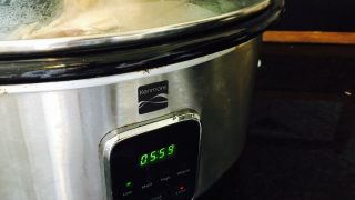 Homemade Turkey Stock in a Crock Pot