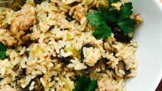 Instant Pot Stuffing with Brown Rice and Sausage (21 Day Fix)