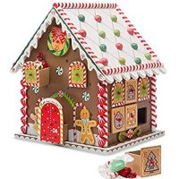 Wooden Gingerbread House Advent Calendar