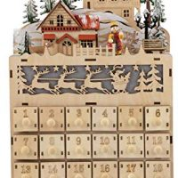 Wooden Advent Calendar - LED Light Up